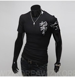 Tatoo Coolon T Shirt Wa3110t Color : Black