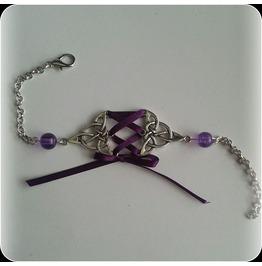 Purple Corset Bracelet Beads