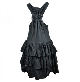 Gothic Punk Alternative Style Dress Buckles Sleeveless Poizen