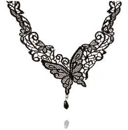 Victorian Black Lace W/ Black Onyx