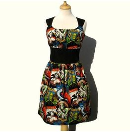 Classic Pinup Monsters Dress