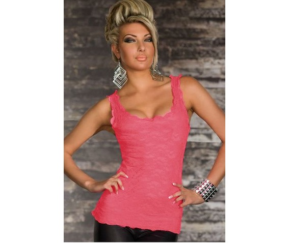 black_pink_allover_lace_scoop_neck_summer_tank_top_tanks_tops_and_camis_4.JPG