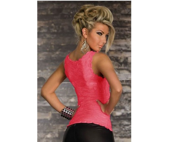 black_pink_allover_lace_scoop_neck_summer_tank_top_tanks_tops_and_camis_2.JPG