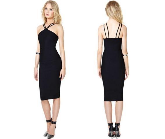 sexy_double_straps_neck_black_short_dress_dresses_3.PNG