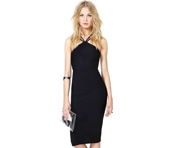 sexy_double_straps_neck_black_short_dress_dresses_2.PNG