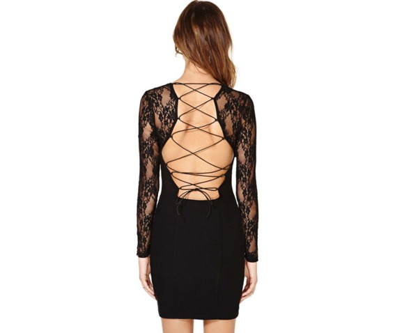 sexy_deep_neckline_long_sleeves_lace_slim_fit_black_dress_dresses_3.PNG