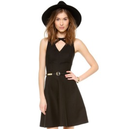 Sexy Strap Neck Sleeveless Slim Fit Black Dress