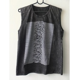 Joy Division Unknown Pleasures Stone Wash Vest Tank Top M