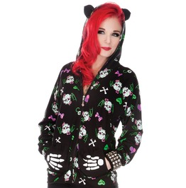 Jawbreaker Skully Girl Kitty Kat Hoodie