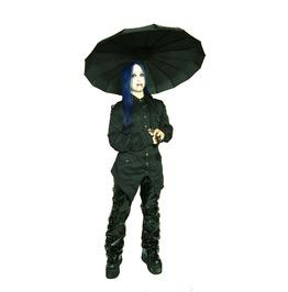 Hilary's Vanity Boy Umbrella Black With Bat