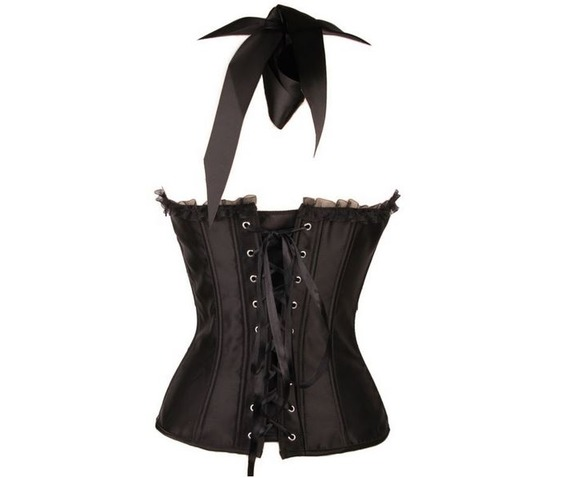 black_satin_halter_top_ribboned_lace_up_corset_bustier_bustiers_and_corsets_6.JPG