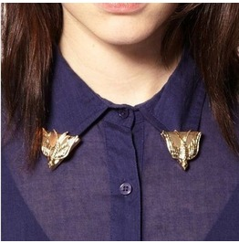 Love Dove Collar Tips Blouse Brooch Pins