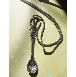 Britannica Pewter Spoon On Antiqued Silver Chain