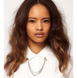 Stud Design Collar Necklace Silver
