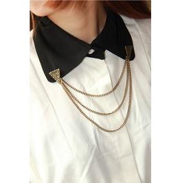 Diamond Design Collar Necklace Bronze