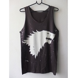 Game Throne Wolf Coat Arms Tank Top M