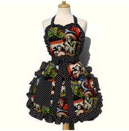 1950s Horror Movie Hollywood Monsters Apron