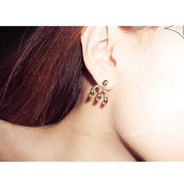 Unisex 4 Skulls Ear Cuff Earrings Gold