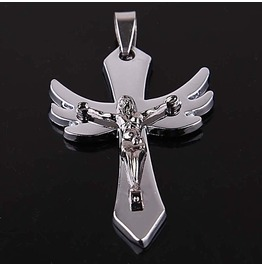 Pendant Crucifix W/ Christ Stainless Steel 316 L Unisex