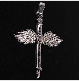 Pendant Crown & Wings Stainless Steel 316 L Unisex