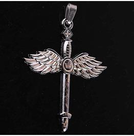 Pendant Crown & Wings Stainless Steel 316 L Unisex