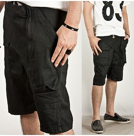 Striking Coated Front Wing Deco Layered Baggy Shorts 16