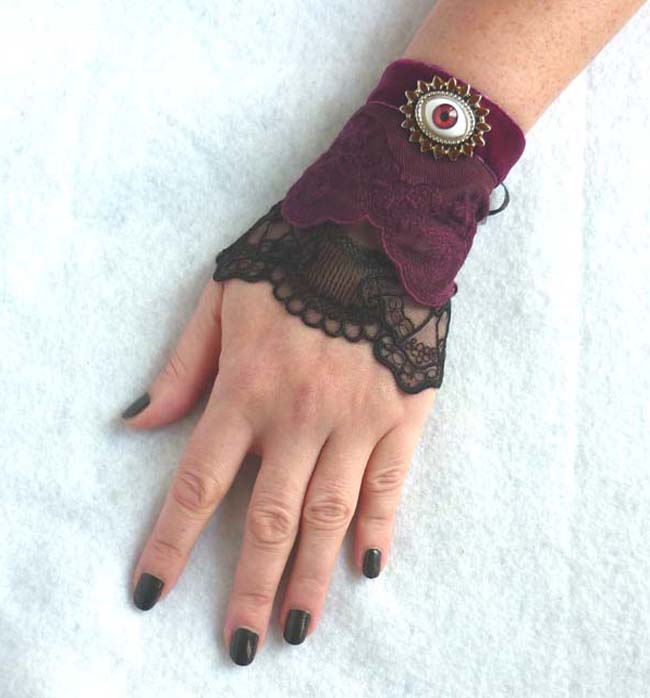 the_third_eye_cuff_bracelet_lace_black_plum_prune_steampunk_gothic_wedding_art_nouveau_esoteric_mystic_edwardian_dark_mori_macabre_wedding_bracelets_4.JPG