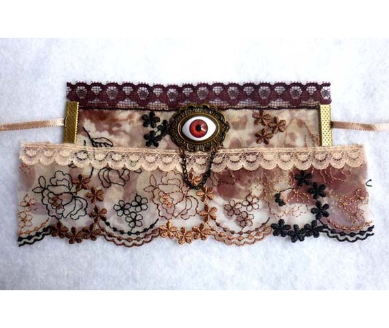 the_automatons_eye_steampunk_cuff_bracelet_lace_gothic_wedding_eyeball_brown_taxidermy_bracelets_5.JPG