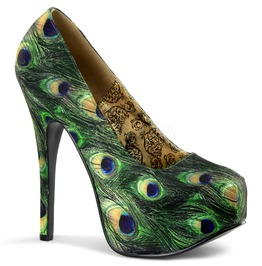 Bordello Shoes Teeze Peacock Stiletto Platforms