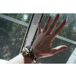 Steampunk Bdsm Jewelry Cuff Brutal Metal Gilded Antique Vintage Watch Adjustable Bracelet Wedding Gorgeous Gift Man Woman
