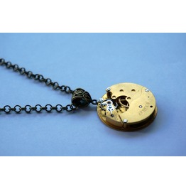 Steampunk Bdsm Elegant Gilded Jewelry Necklace Antique Vintage Year 1898 Luxury Watch Wedding Gorgeous Gift Man Woman