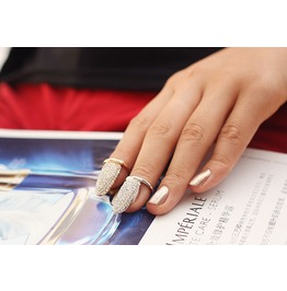 """Fingernail Ring Tip ~ Gold """" Last One"""""""