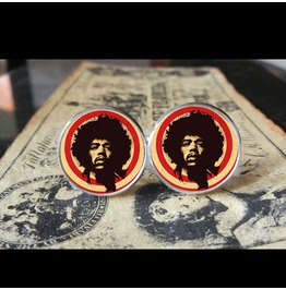 Jimi Hendrix Cuff Links Men, Weddings,Grooms, Groomsmen,Gifts,Dads,Graduations