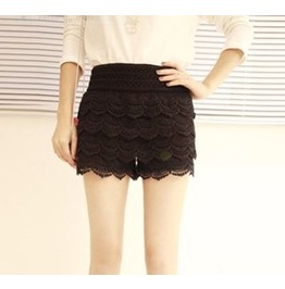 Black/White Layer Cake Crochet Miniskirt/Shorts
