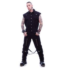 Necessary Evil Gothic Mens Mider Sleeveless Jacket Spikes