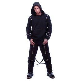 Necessary Evil Gothic Mens Lothur Zip Hoody