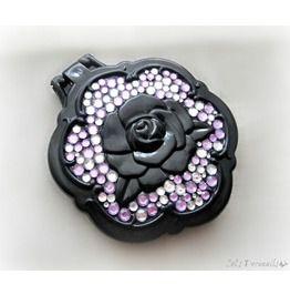 Black Rose Rhinestone Mirror, Decoden Accessory