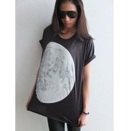 Moon Star Cluster Galaxy Universe Sci Fiction Pop Rock T Shirt M