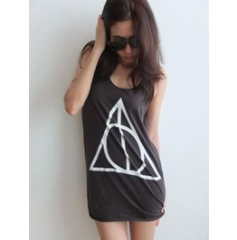Triangle Pattern Goth Punk Rock Vest Tank Top M