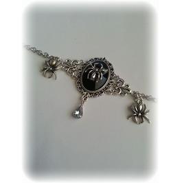 Bracelet Spider, Acrylic Black Stone