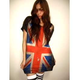 Uk British Union Jack Flag Punk Rock T Shirt M