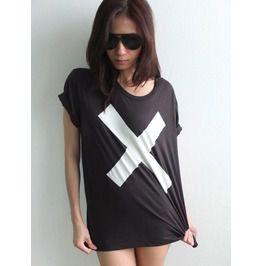 X cross goth electronica fashion pop rock t shirt m t shirts
