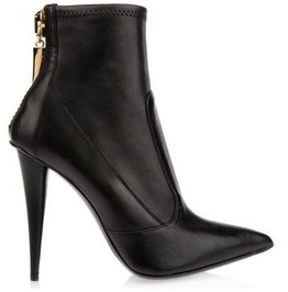 Pointed Toe Back Zipper Thin High Heel Boots