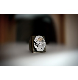 Steampunk Bdsm Man's Jewelry Ring Vintage Watch Movement Brutal Style Rings Birthday Wedding Anniversary Gorgeous Gift Antique