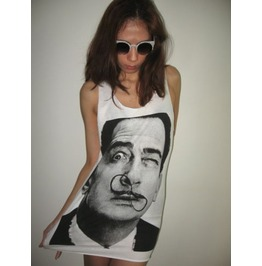 Salvador Dali Mustache Pop Art Fashion Tank Top