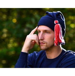 Navy Blue Phrygian Cap Red White Blue Tassel Liberty Cap Mens Womens Hat