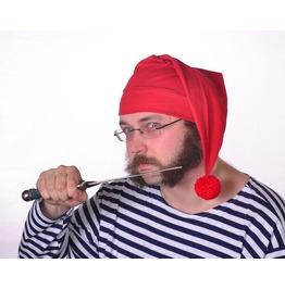 Smee Hat Pirates Mate Hat Red Stocking Cap Red Cotton Mens Hat Womens Hat Peter Pan