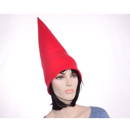 Red Gnome Hat Extra Tall Cap Fleece Men Women Tall Pointed Costume Party Hat