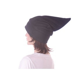 Black Stocking Cap Elf Hat Pointed Dwarf Cap Man Woman