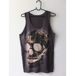 Goth Human Skull Pop Art Fashion Punk Rock Tank Top M